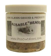 AuSable Brand Mink Glands - Ground & Preserved - 16oz Glass Pint