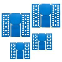 4x Wäschefaltbrett Faltbrett Kunststoff   Wäschefalter Blau   Wäsche Faltsystem