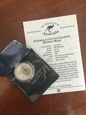 1995 Australia 10 Dollars Silver Proof Coin Living Legends Murray Rose+COA