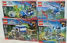 75915 75916 75917 75920 LEGO lot 4 sets Jurassic World RAPTOR RAMPAGE Dinosaurs