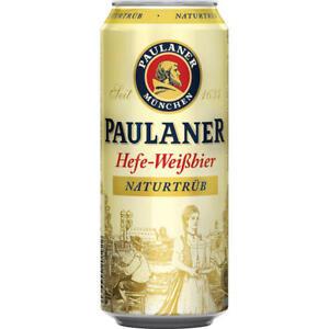 24 Dosen Paulaner Weissbier naturtrüb a 0,5L Bier Dose inc. 6,00€ EINWEG Pfand
