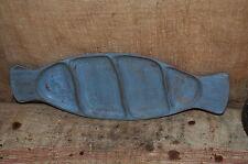 Distressed Robin's Egg Blue Wooden Tray Primitive Folk Art Decor ~ Soap Holder