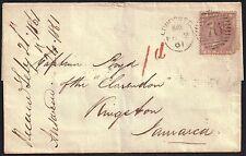 GB 1856 6d Victoria (1840-1901) sg 70 cover 76 [CO Newcross] 2 Feb 1861*