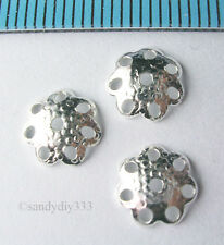 20x BRIGHT STERLING SILVER FLOWER BEAD CAP SPACER 6mm #246