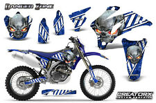 YAMAHA WR250F WR450F 2007-2011 GRAPHICS KIT CREATORX DECALS DZWBL