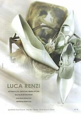 PUBLICITE ADVERTISING  2006  LUCA RENZI chaussures de mariée