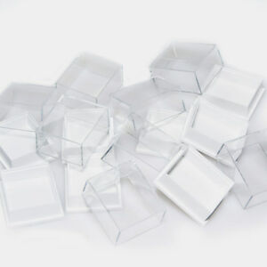 Clear Top Plastic Low Dome Jewellery Earring Collectables Display Boxes SALE
