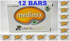 12 BARS Medimix SANDAL 125gm Ayurvedic Soap Natural 18 Herbs Acne Pimple USA SLR