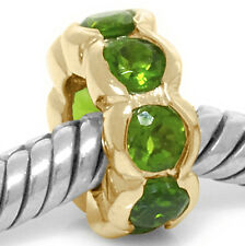 Genuine Real Oops Diopside 9K 9ct 375 Solid Gold Bead Charm Fits Major Brands