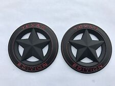 2X NEW TEXAS EDITION STAR BLACK LOGO FORD F-150 F-250 F-350 FENDER I TAILGATE