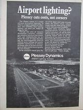 12/1970 PUB PLESSEY DYNAMICS AIRPORT LIGHTNING SYSTEMS AEROPORT PISTE AD