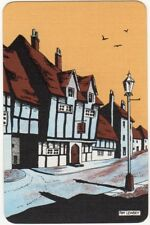 Playing Cards 1 Swap Card - Old Vintage ENGLISH Seaside ANCHOR PUB Tom Lewsey 1