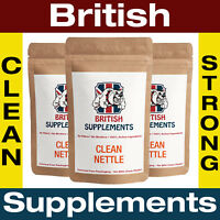 Clean Stinging Nettle Extract 3,100mg Capsules (Silica 6mg) British Supplements