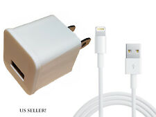 USB Home AC Wall +  8 Pin Data Sync Cable For iPhone 7 Plus 6 6S 5S 5C New