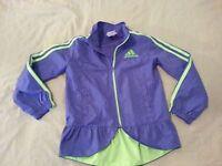 Girls adidas Full Zip Jacket 5 Purple Athletic