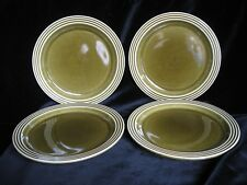 Vintage Hornsea Pottery HEIRLOOM Green Set of 4 Side Plates