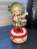 Vintage Christmas Little Drummer Boy Music Box, 1950's, Made in Japan