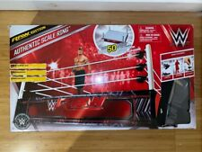 WWE BOXED AUTHENTIC SCALE RAW WRESTLING RING FOR FIGURES RARE WICKED COOL ELITE