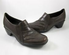 Clarks Shoes Brown Partridge 7 M Leather Slip On Ladies Style 89488 Loafer