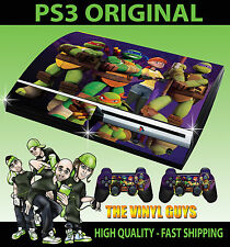 PLAYSTATION PS3 OLD SHAPE NICK TOON TEENAGE MUTANT NINJA TURTLE STICKER SKIN