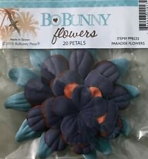 BoBunny Paradise Scrapbook Craft Flowers - 20 Petals New