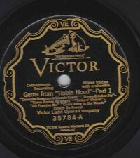 Victor Light Opera Co – 78 rpm Victor 35784: Gems from Robin Hood (in 2 parts)