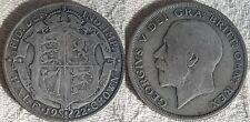 1922 King George V Silver Half Crown Coin