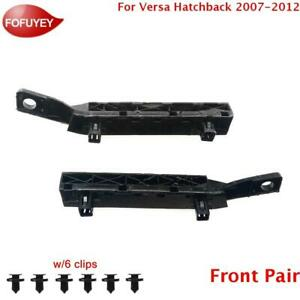 For Nissan Versa 2007-2012 Bumper Bracket Retainer Front 2PC Plastic Hold Mount