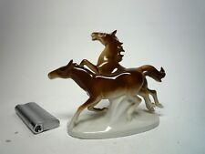 """Porzellan-Figur """"Pferde"""", Reichmannsdorf-Carl Scheidig, gemarkt, nummeriert."""