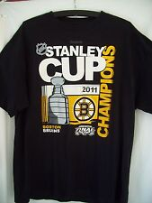 BOSTON BRUINS ADULT REEBOK NHL 2011 STANLEY CUP CHAMPIONS HEAVY T SHIRT