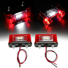 2x12V/24V LED Rear Tail License Plate Light For Car/Truck/Trailer/Lorry