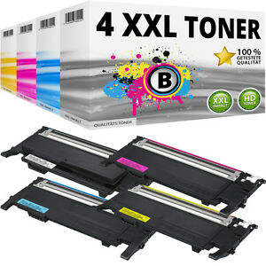 4x XL TONER PATRONEN für Samsung CLP-320N CLP-325W CLX-3185FN CLX-3185FW CLP-320