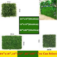 24pcs 12pcs Artificial Boxwood Hedge Mat UV Grass Fake Fence Wall Decor