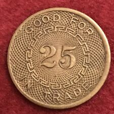 New Listing3358 Broadway Silver Dollar Tavern Good For 25 N Trade 26mm Token Vtg Brass Coin