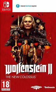 Wolfenstein II 2 The New Colossus | Nintendo Switch BRAND NEW SEALED