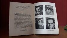 Comedie Francaise Salle Richelieu Programme 1947 (brochure avec Photos)
