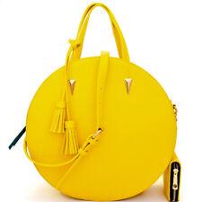 Handbag Republic LARGE 3-Compartment Round Satchel w/ Crossbody Strap + Wallet