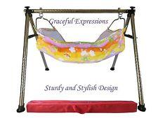 Orange-Yellow Newborn Baby Nursery Cradle Swing Ghodiyu with Hammock-Quick SetUp