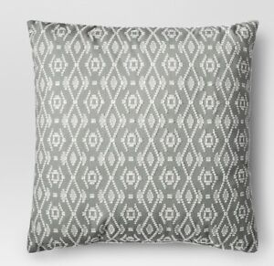 NWT Threshold Global Weave Throw Pillow Embroidered Pillow 18 X 18