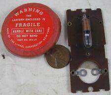 Antique Miniature Train Light Bulb & Lionel Cap