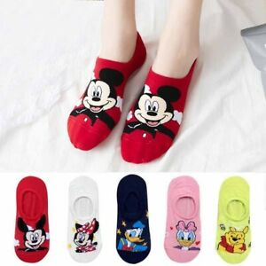5 Pairs Mickey Mouse Cartoon Cotton Socks Cute Funny Women Girl New Fashion Gift