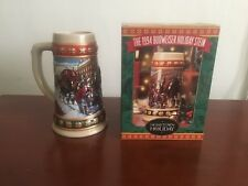 1994 BUDWEISER HOLIDAY STEIN Hometown Holiday Mug Christmas Horses Man cave