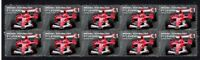 MICHAEL SCHUMACHER STRIP OF 10 MINT F1 LEGEND VIGNETTE STAMPS 1