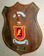 1974 Vietnam Era Us Marine Corps Striking 9th 1st Battalion Hand Painted Plaque