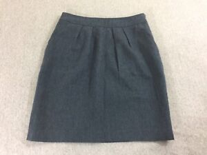 Anthropologie Tabitha Womens Pencil Skirt  Linen Blend Blue Size 4
