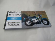 Suzuki RV90  owners manual   1977   RV90B