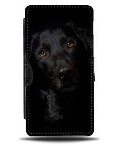 Black Labrador Flip Cover Wallet Phone Case Labradors Dark Face Pet Dog si414