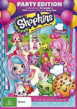 SHOPKINS - CHEF CLUB (PARTY EDITION) - BRAND NEW & SEALED REGION 4 DVD