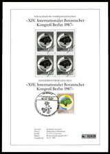 BERLIN SCHWARZDRUCK 1987 FLORA BOTANISCHER KONGREß BLACK PRINT LTD ze52