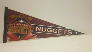Denver Nuggets NBA Pennant Vintage 1990s Denver Colorado Basketball